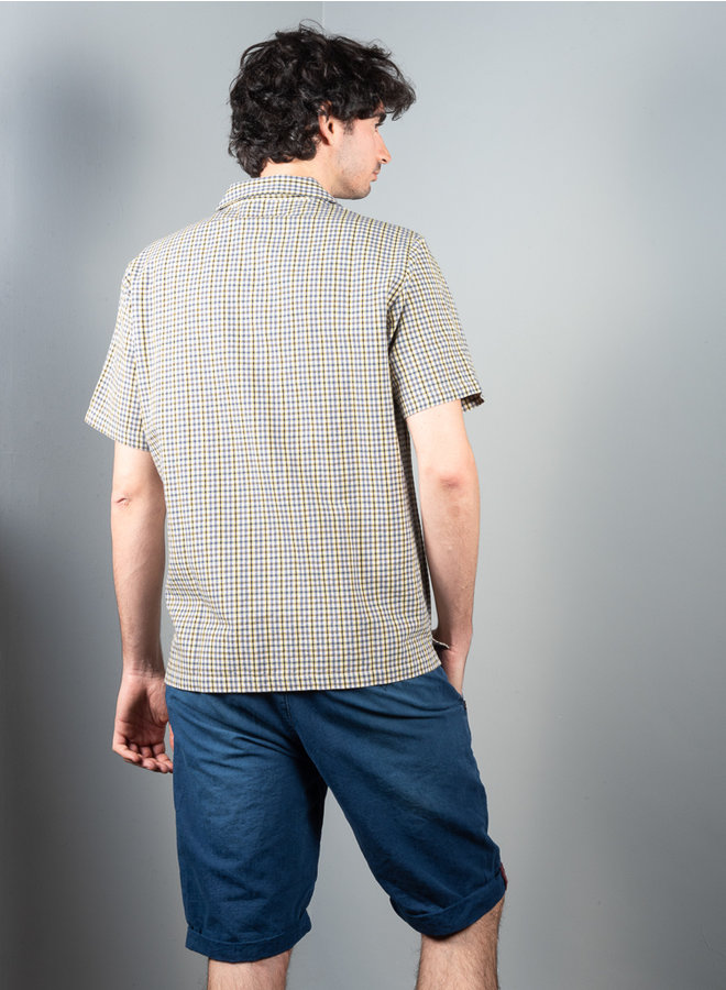 Collar shirt gingham