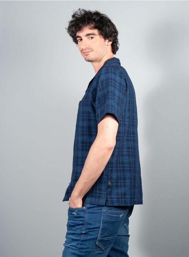 Collar shirt indigo