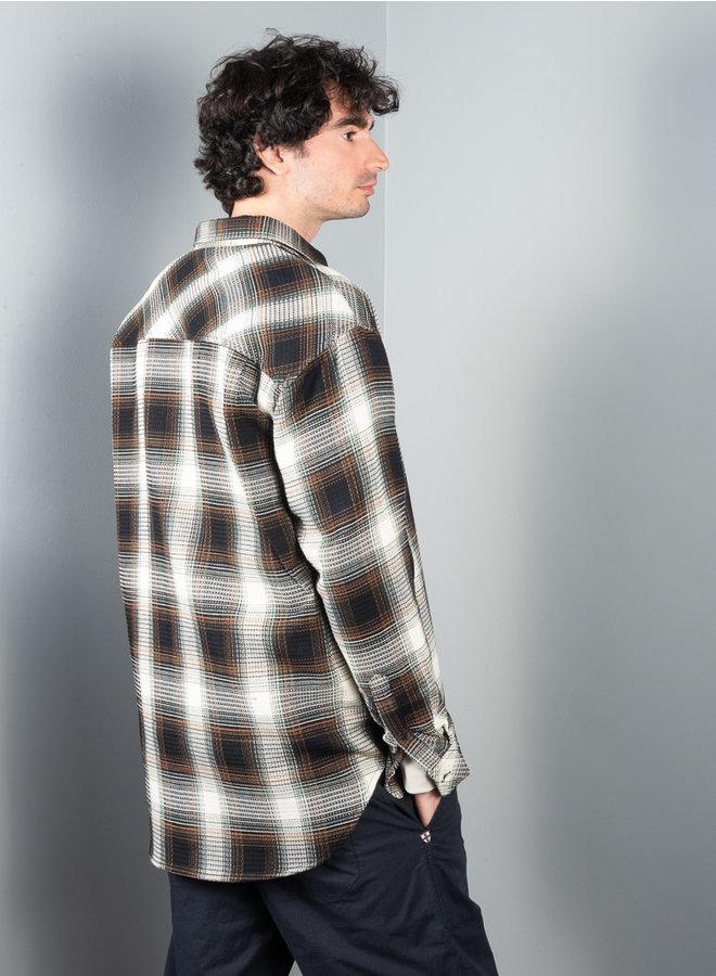 Luan J shirt zwart ruit