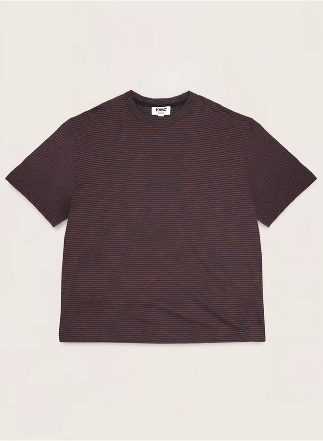 P6QBB t-shirt navy-rood men