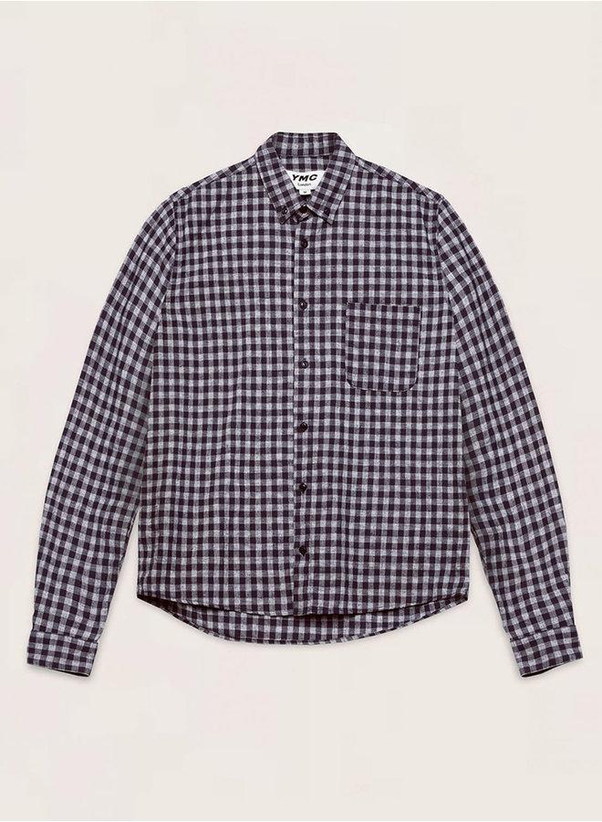 P2QAT shirt navy check men