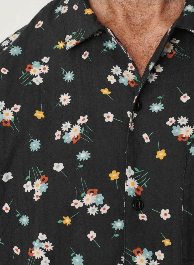 P2QAY shirt zwart print men