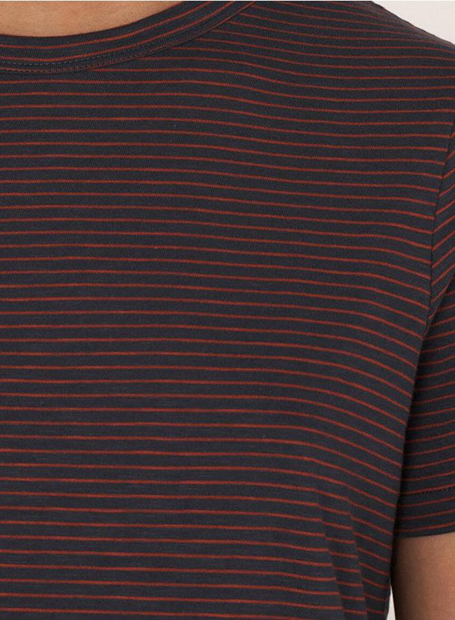 Q6QAN t-shirt navy rood women