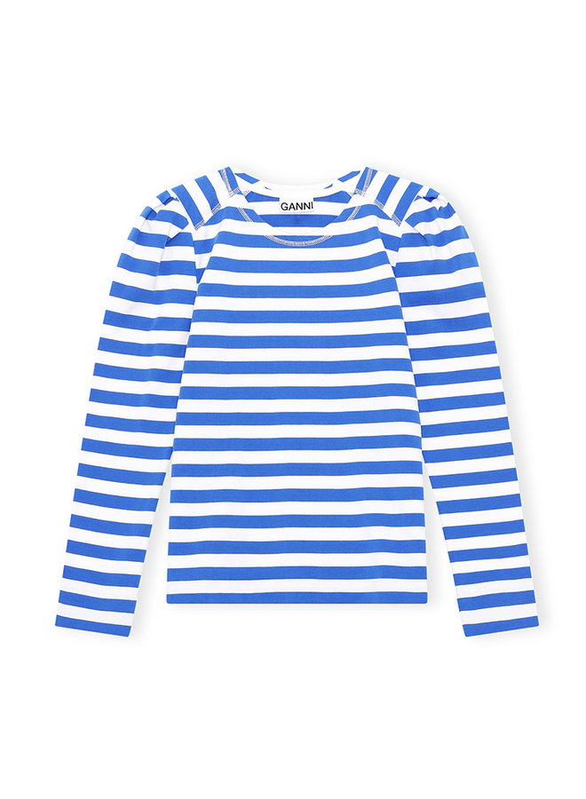 Shirt T2792 blauw streep
