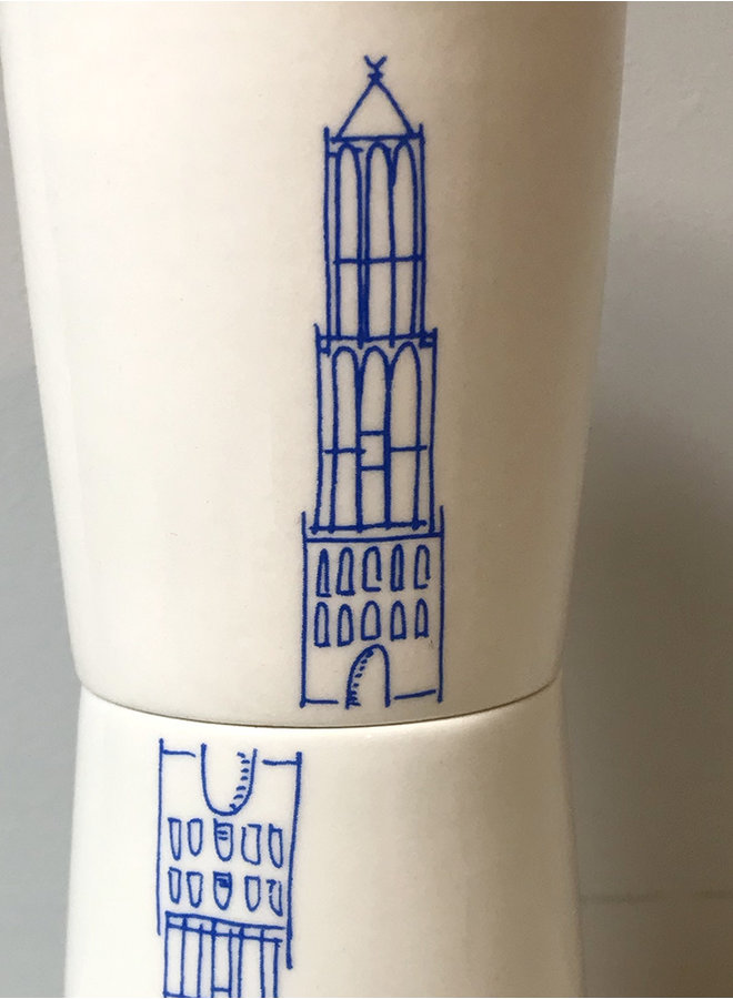 Espressokop Domtoren blauw
