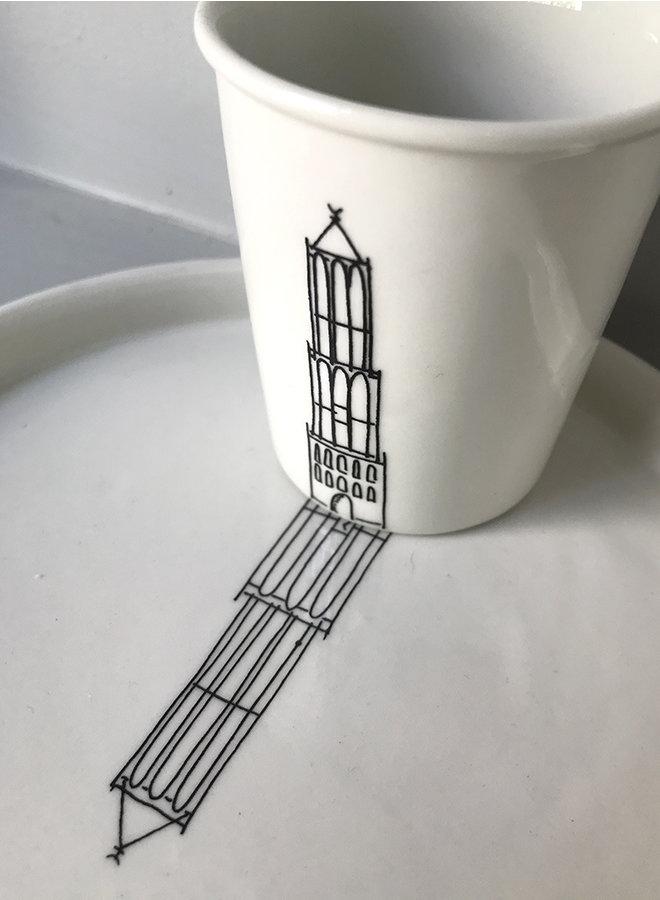Espressokop Domtoren zwart