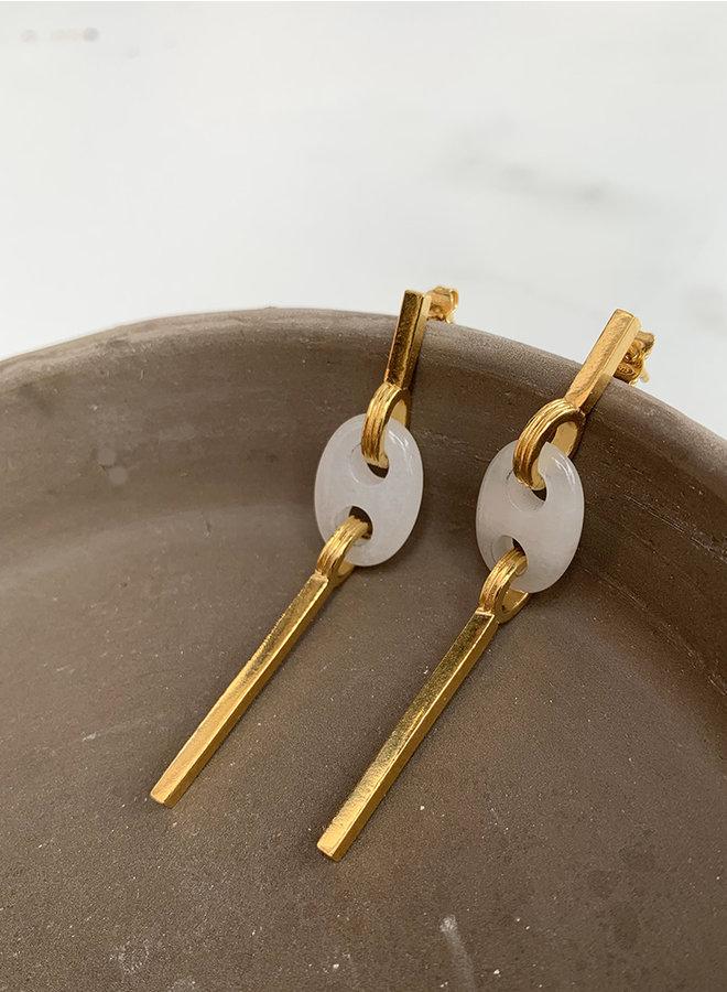 Jo13 oorbel gold plated