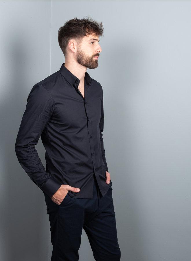 M. Paul  shirt stretch navy