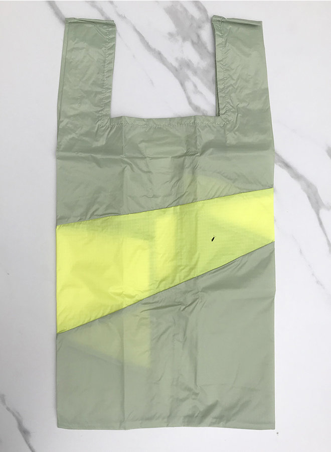 Shopping bag 'recollection' pistachio & fluo L