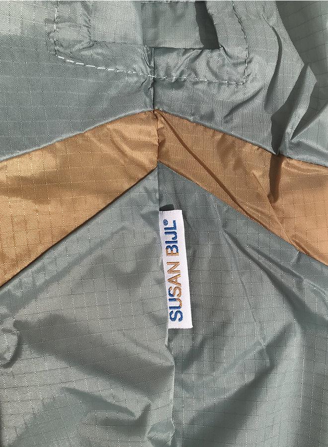 Shopping bag 'forever' grey&camel M