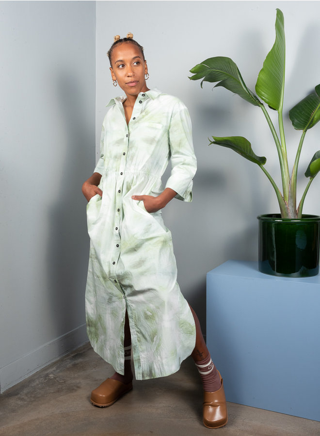 F6028 shirtdress groen