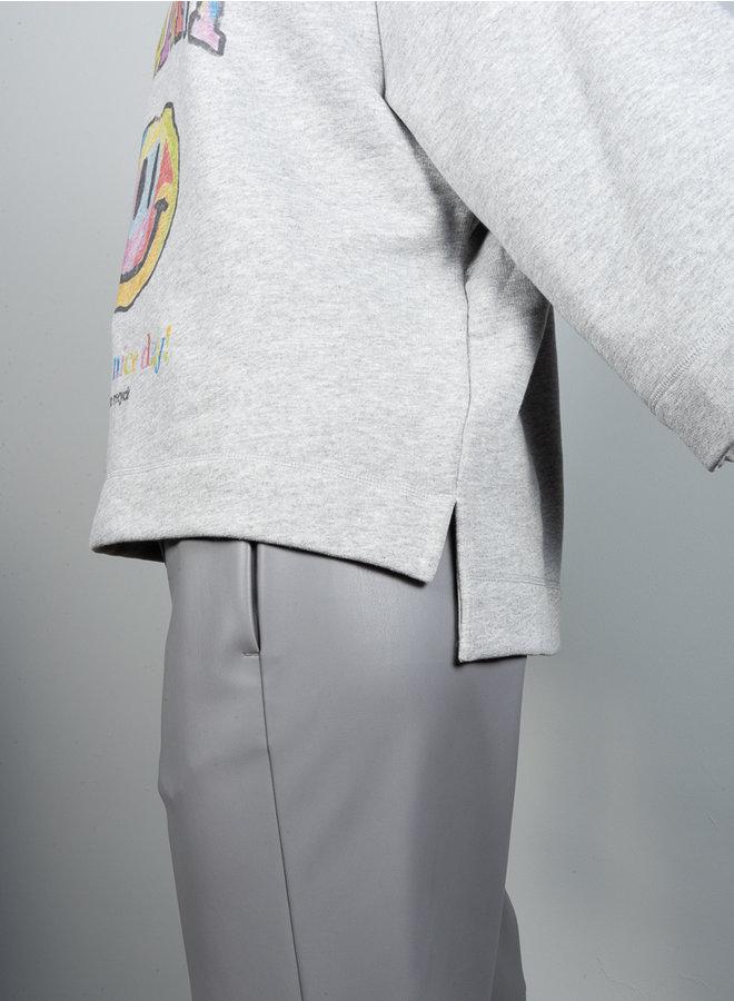 T2793 sweater smiley grijs