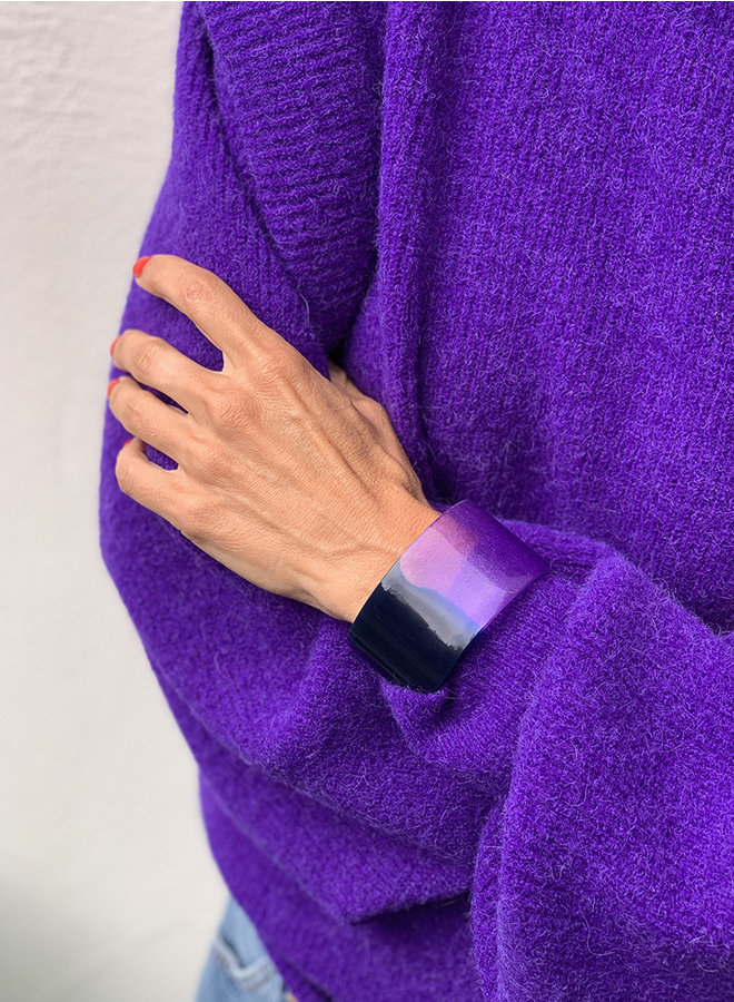 Armband divine blauw/paars