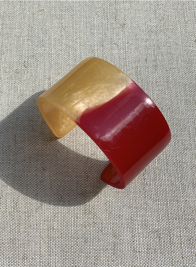Armband Bloody hell rood/parelmoer