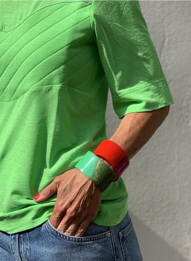 Armband Ian rood/fuchsia roze