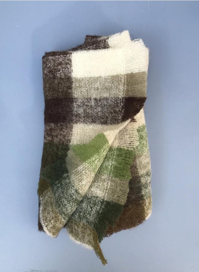 Corunda shawl groen ruit