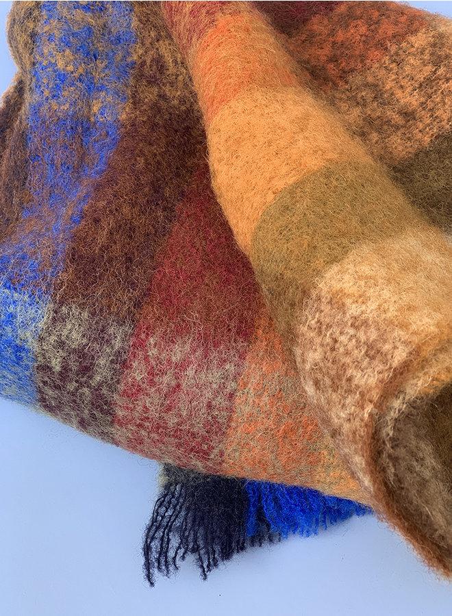 Corunda shawl oranje ruit