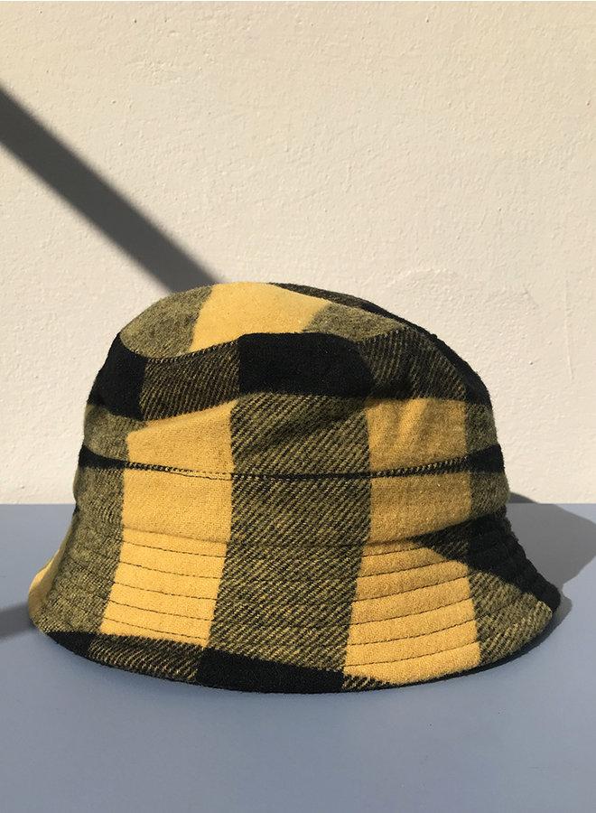 Bucket hat black/yellow