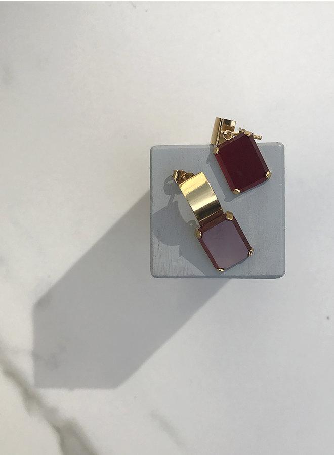KO6 red agate earring