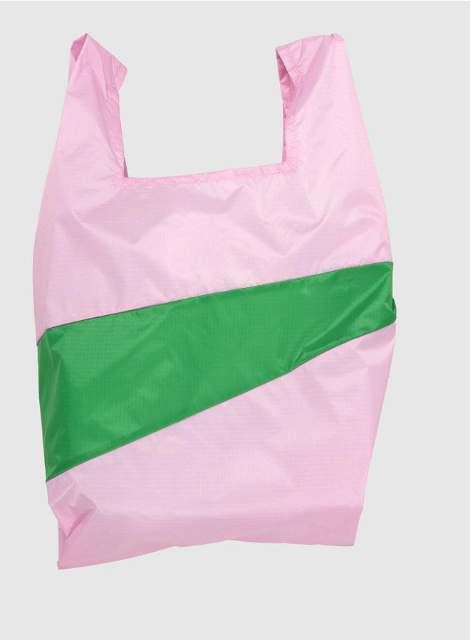 Shopping bag L pink & wena