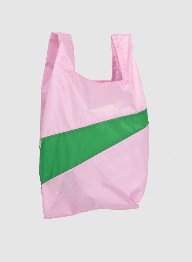 Shopping bag M pink & wena