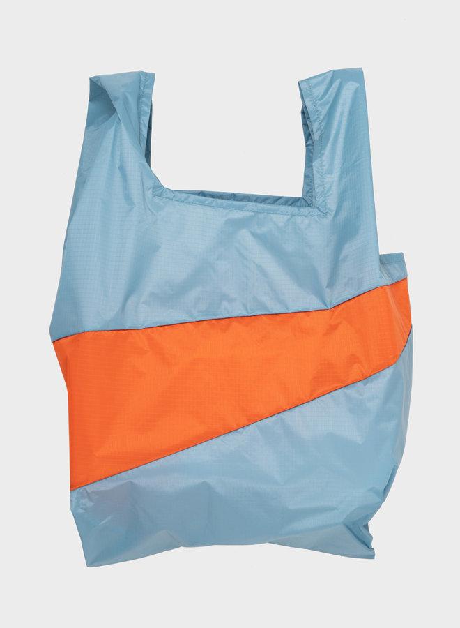 Shopping bag L concrete & orange