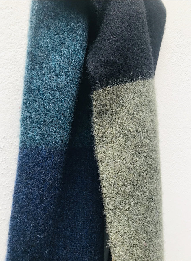 Brushed color block scarf multi