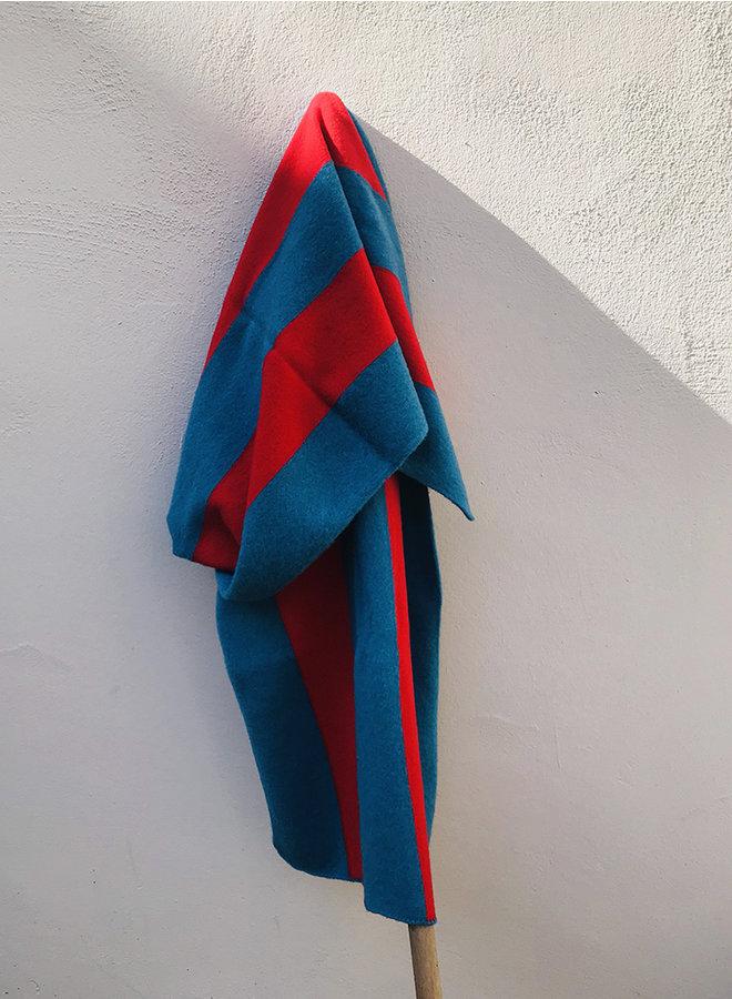 Brushed sjaal vertical steep rood
