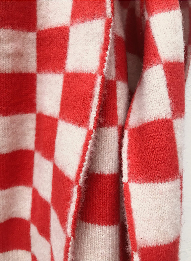 Check scarf red