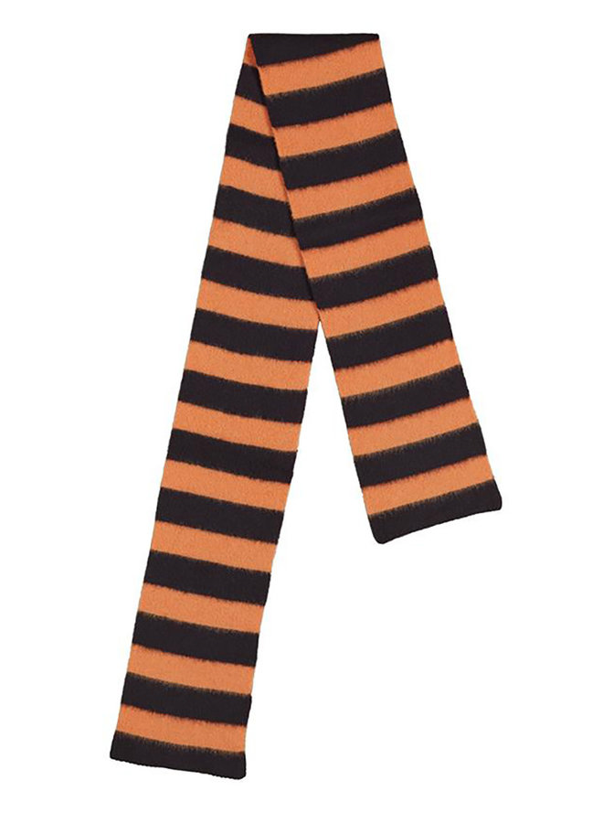 Scarf stripe orange