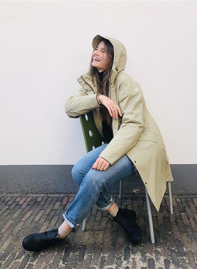 Monica coat stretch zand