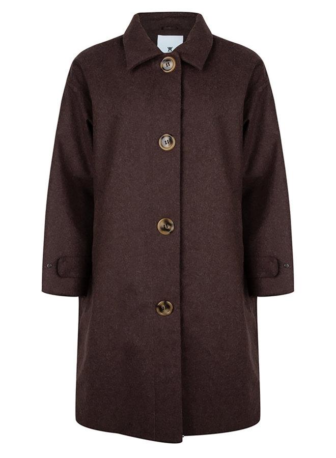 BB overcoat bruin