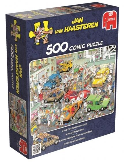 Jan van Haasteren In de Autospuiterij - 500 stukjes