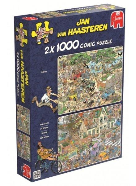 Jan van Haasteren Safari & Storm 2 x 1000 stukjes