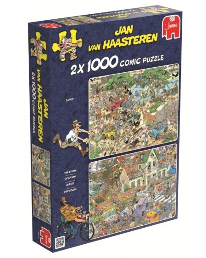 Jan van Haasteren Jan van Haasteren Safari & Storm 2 x 1000 stukjes