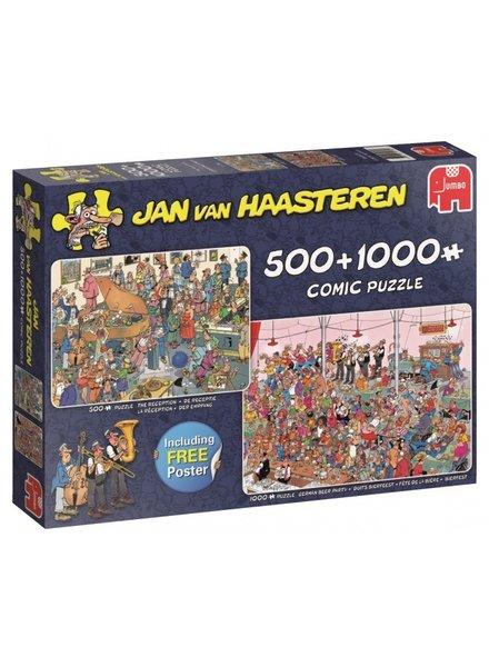 Jan van Haasteren Feestje! 2 puzzels 500 & 1000 stukjes