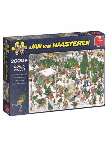 Jan van Haasteren Kerstbomenmarkt - 2000 stukjes