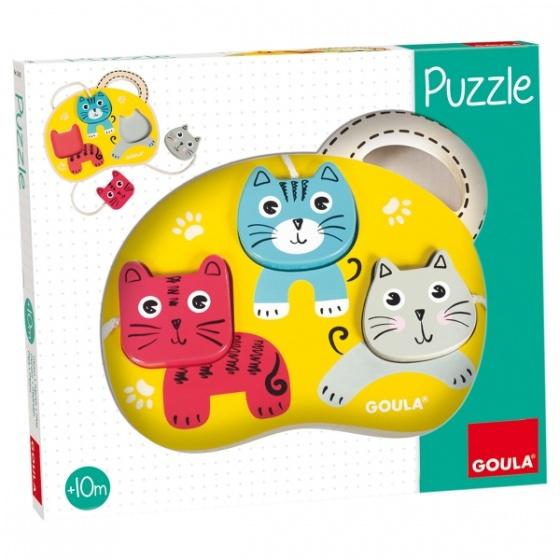 Jumbo Drie Katten vormenpuzzel