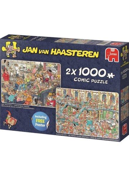 Jan van Haasteren 2in1 Feestdagen - 2000 stukjes