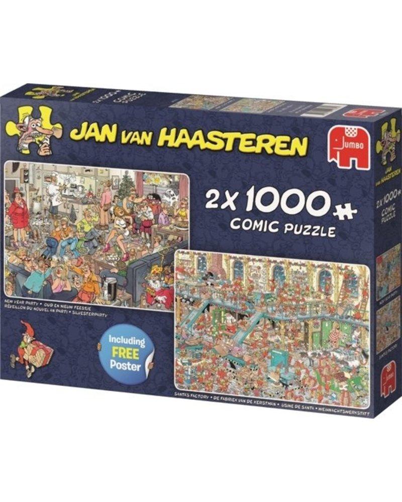 Jan van Haasteren Jan van Haasteren 2in1 Feestdagen - 2000 stukjes