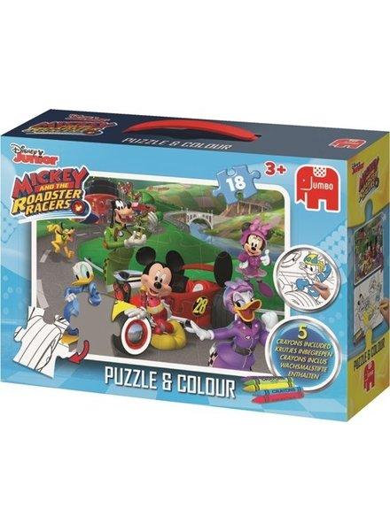 Jumbo Kleurplaatpuzzel Disney Mickey Mouse