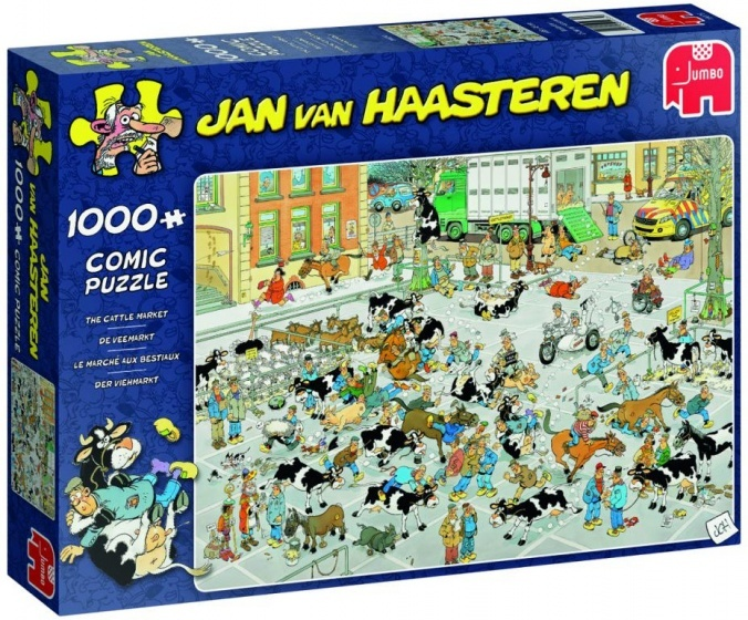 Jan van Haasteren The Cattle Market - 1000 stukjes