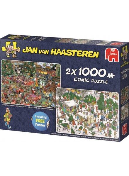 Jan van Haasteren 2in1 Kerst 2x1000 stukjes