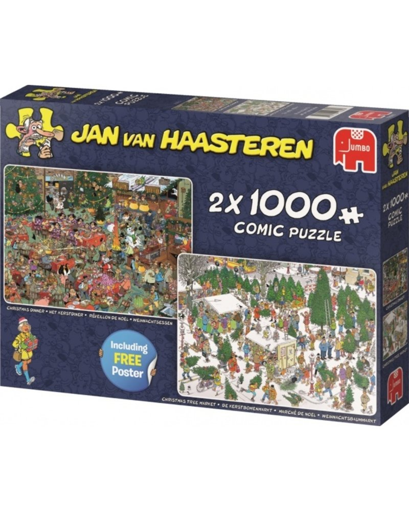 Jan van Haasteren Jan van Haasteren 2in1 Kerst 2x1000 stukjes