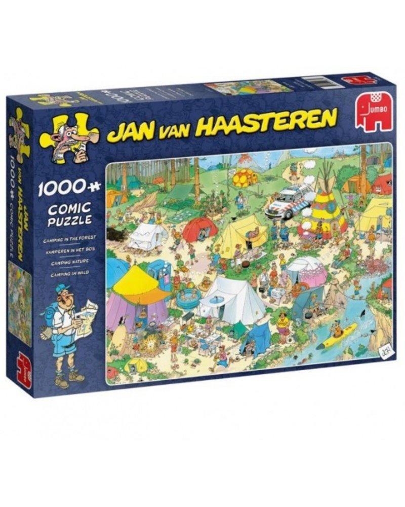 Jan van Haasteren Jan van Haasteren kamperen in het bos - 1000 stukjes