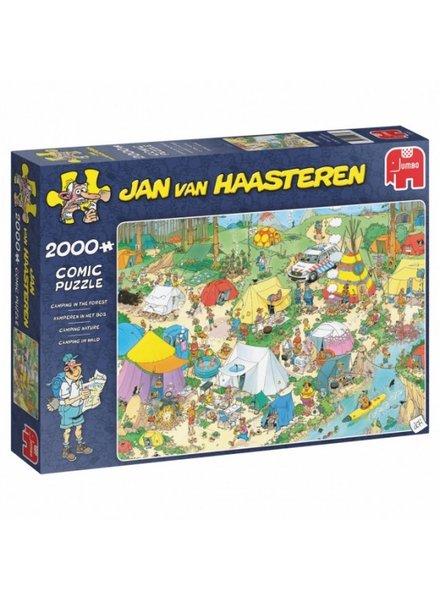 Jan van Haasteren Kamperen in het bos -  2000 stukjes