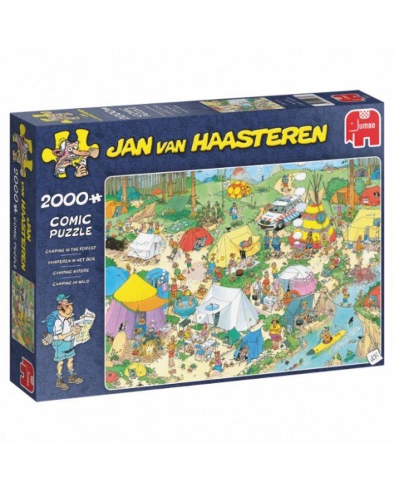 Jan van Haasteren Jan van Haasteren Kamperen in het bos -  2000 stukjes