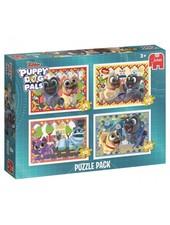Jumbo Puppy Dog Pals 4in1 puzzel (35/50/70/100 stukjes)