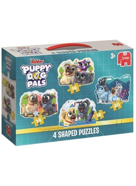 Jumbo Puppy Dog Pals 4in1 puzzel (14/16/18/20 stukjes)