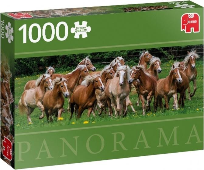 Jumbo PC Haflinger Horses panorama - 1000 stukjes